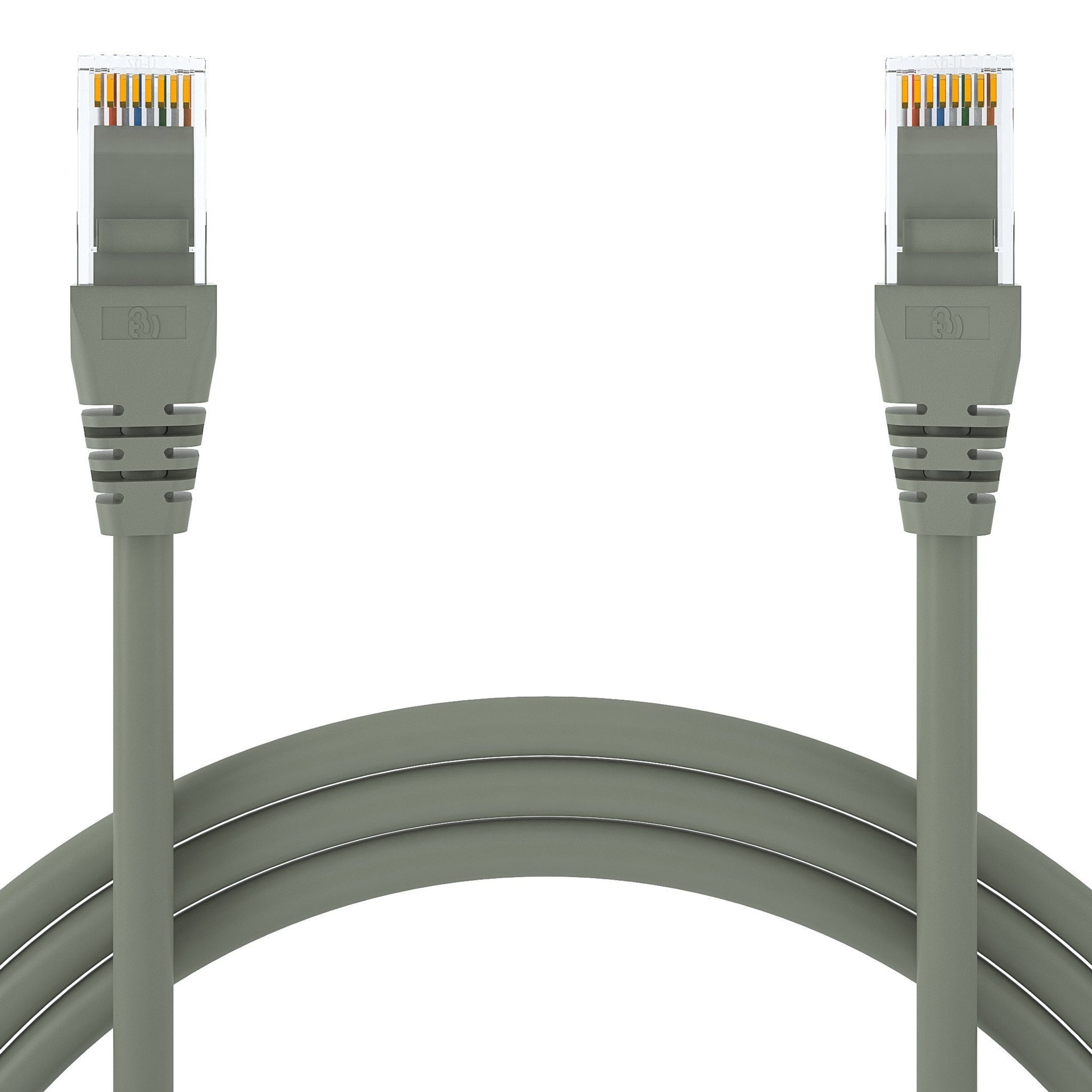 Cat6 Snagless Rj45 Ethernet Patch Cable Beyondtech The Wiring Of Conductors To Has Also Been Established By 1 Ft Gray 5 Pack Cat5e