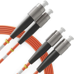 FC to FC OM1 Multimode Duplex LSZH UPC Fiber Patch Cable - Beyondtech freeshipping - Beyondtech
