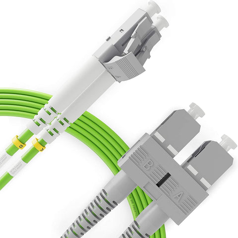 Fiber Optic Patch Cord LC to SC OM5 100G Multimode Duplex LSZH UPC Fiber Patch Cable - Beyondtech