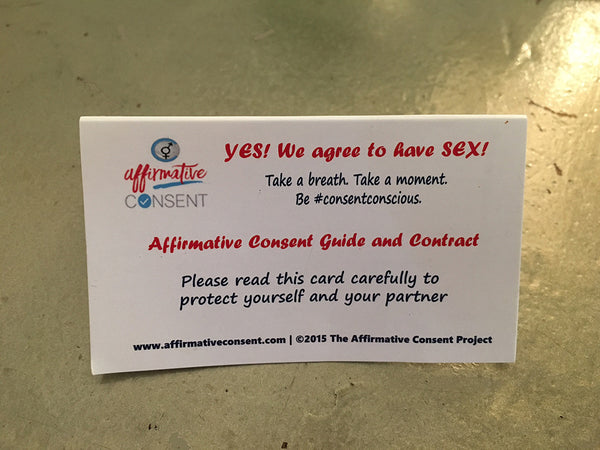 Consent Guide  / Yes Means Yes Cards (Pack of 30)