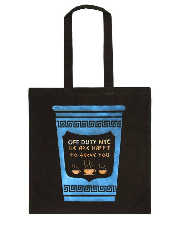 Happy To Serve You Tote - Black
