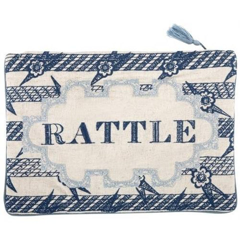 Rattle Embroidered Pouch