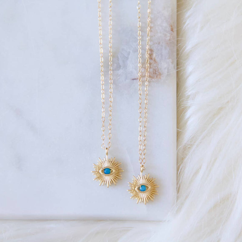 Evil Eye Sunburst Necklace