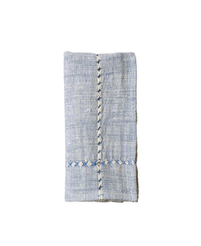 Pulled Cotton Napkin - Blue