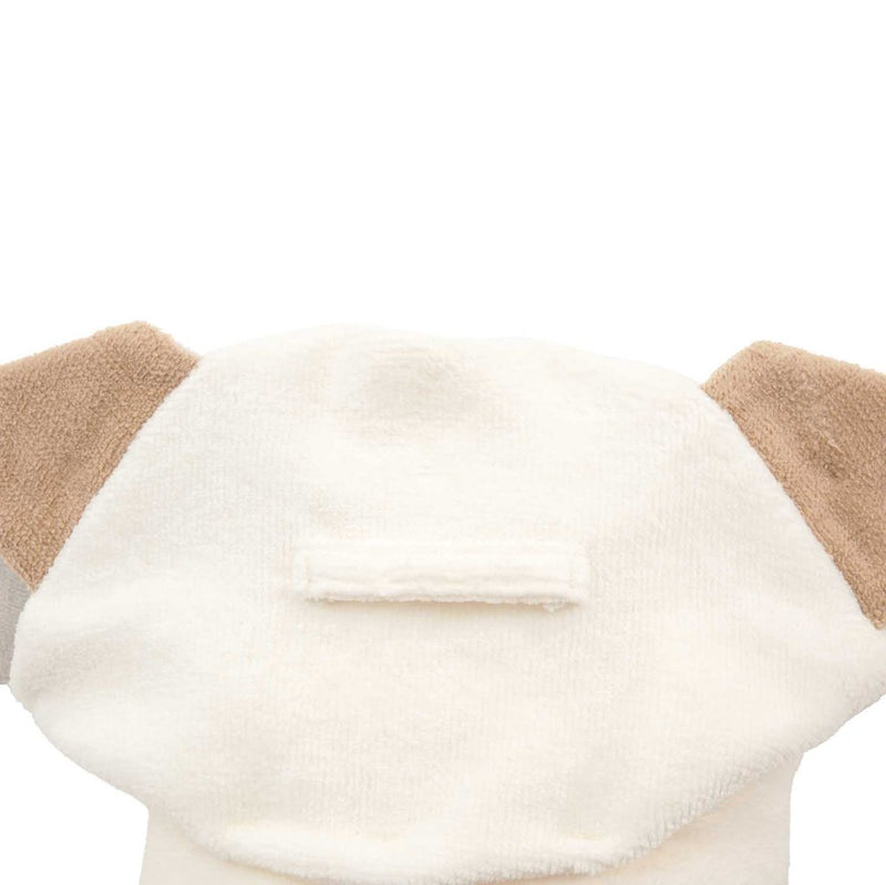 Baby Bath Wrap - Tan Puppy