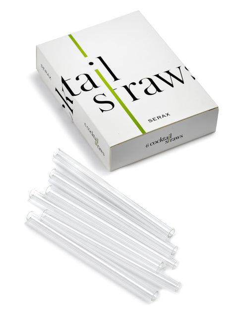Glass Cocktail Straw Set