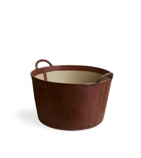 Large Leather Bucket