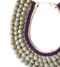 Balinese Tribal Necklace - Jimbaran Purple