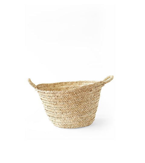 Handwoven Moroccan Basket with Handles