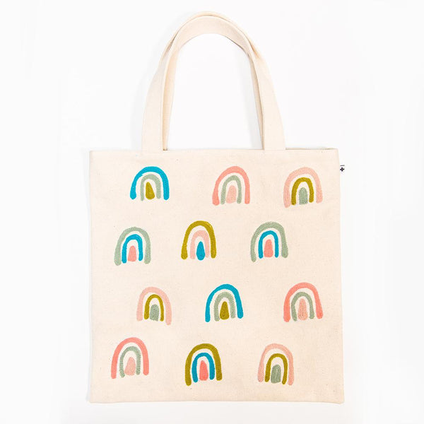 Embroidered Tote - Rainbow