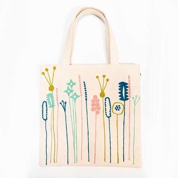 Embroidered Tote - Fleur