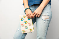 Embroidered Bangle Clutch - Rainbow