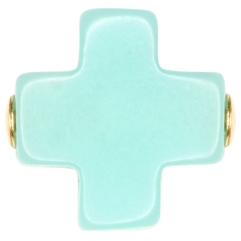Swiss Style Cross Necklace - Mint