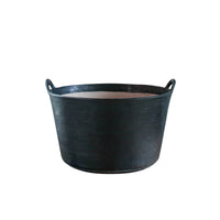 BLACKBARN - Large Leather Bucket - Black Color