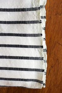 Handwoven Cotton Blanket - Breton Stripe