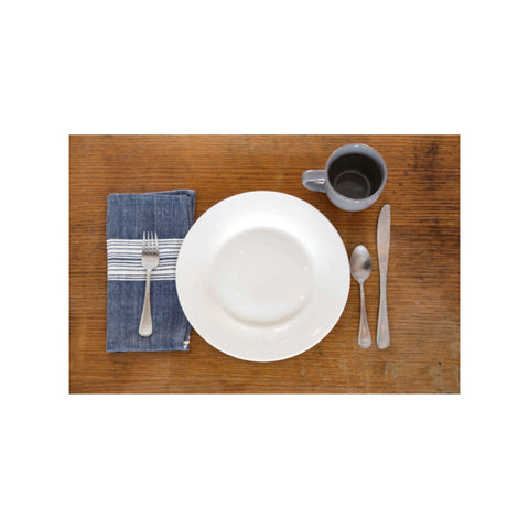 Aidan Cotton Napkin - Navy & Natural