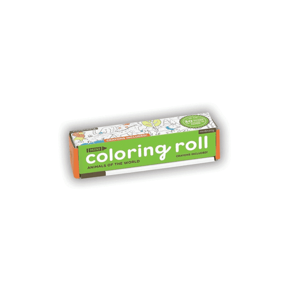 Mini Coloring Roll - Animals of the World