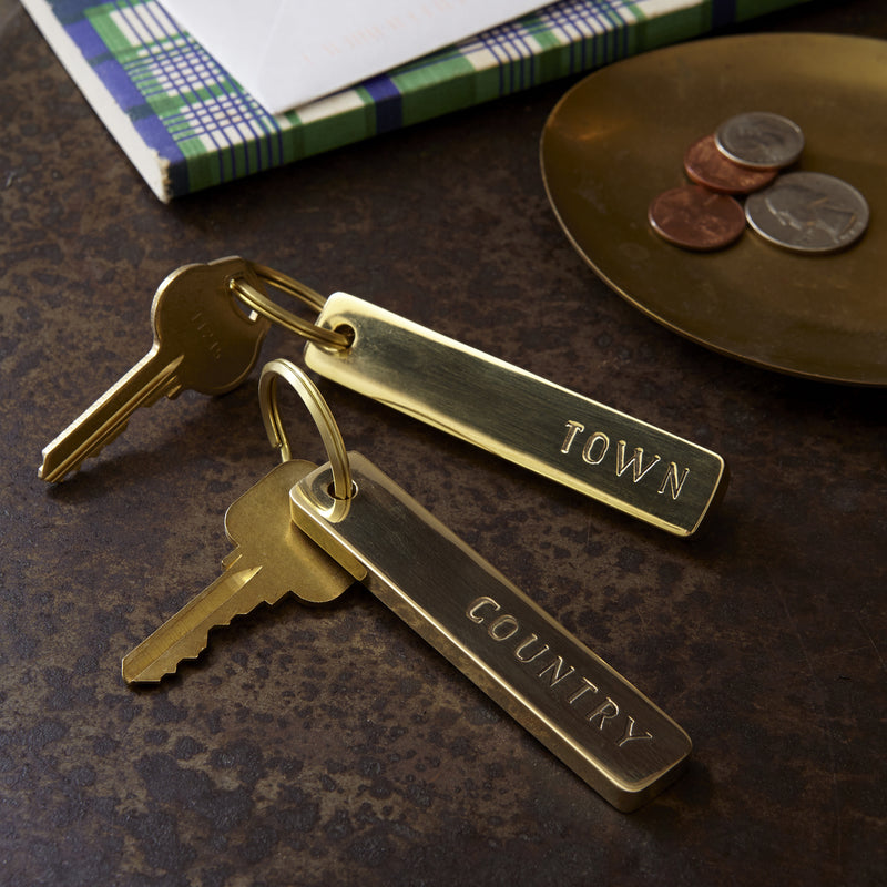 Town & Country Brass Key Rings
