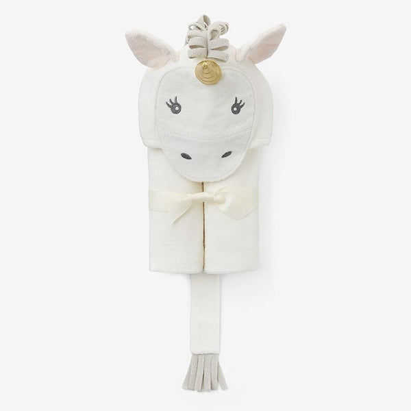 Baby Bath Wrap - White Unicorn