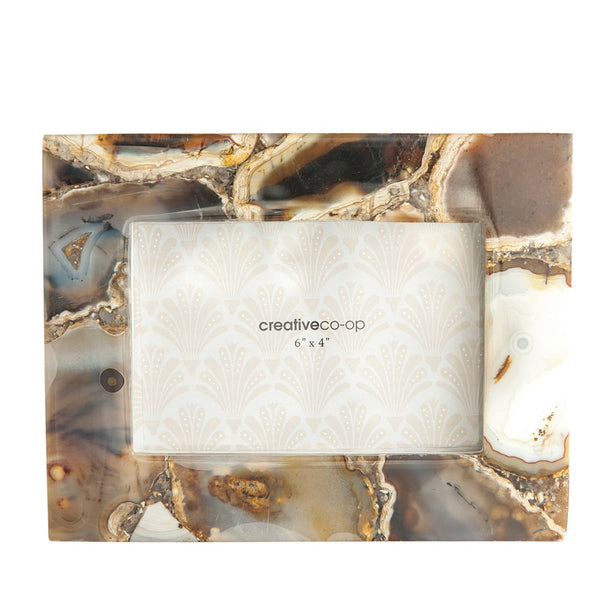 Agate Photo Frame - Brown