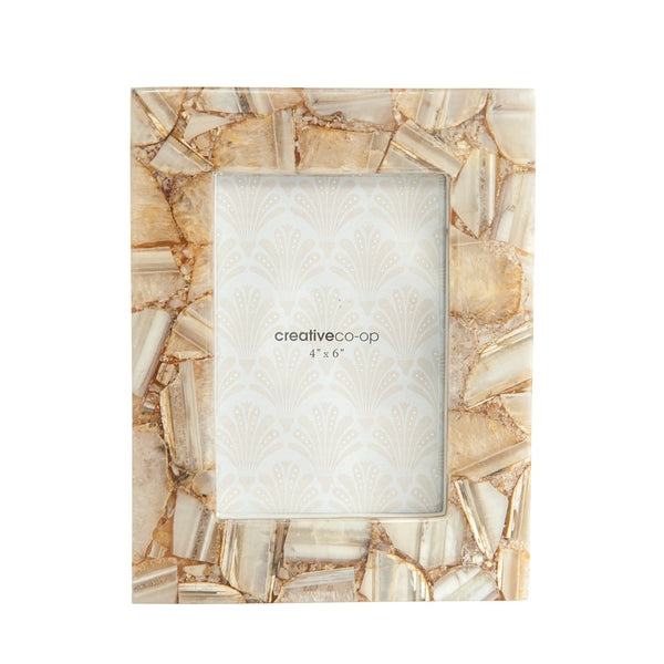 Agate Photo Frame - Tan