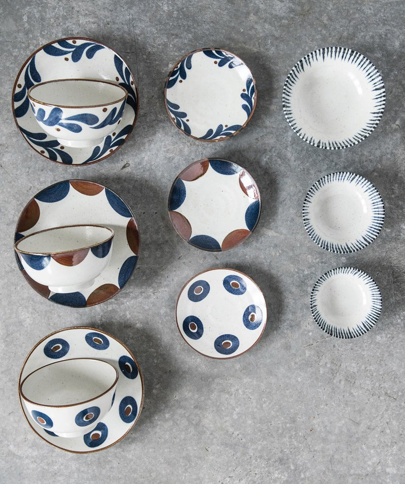 Medium Porcelain Bowl - Blue & White Pattern