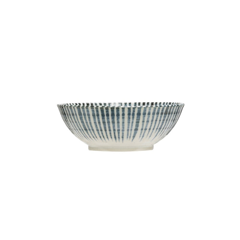 Large Porcelain Bowl - Blue & White Pattern