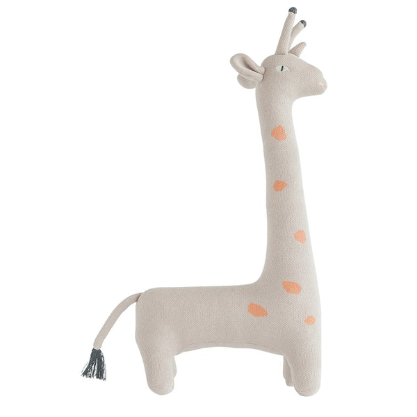 Gray Cotton Knit Giraffe