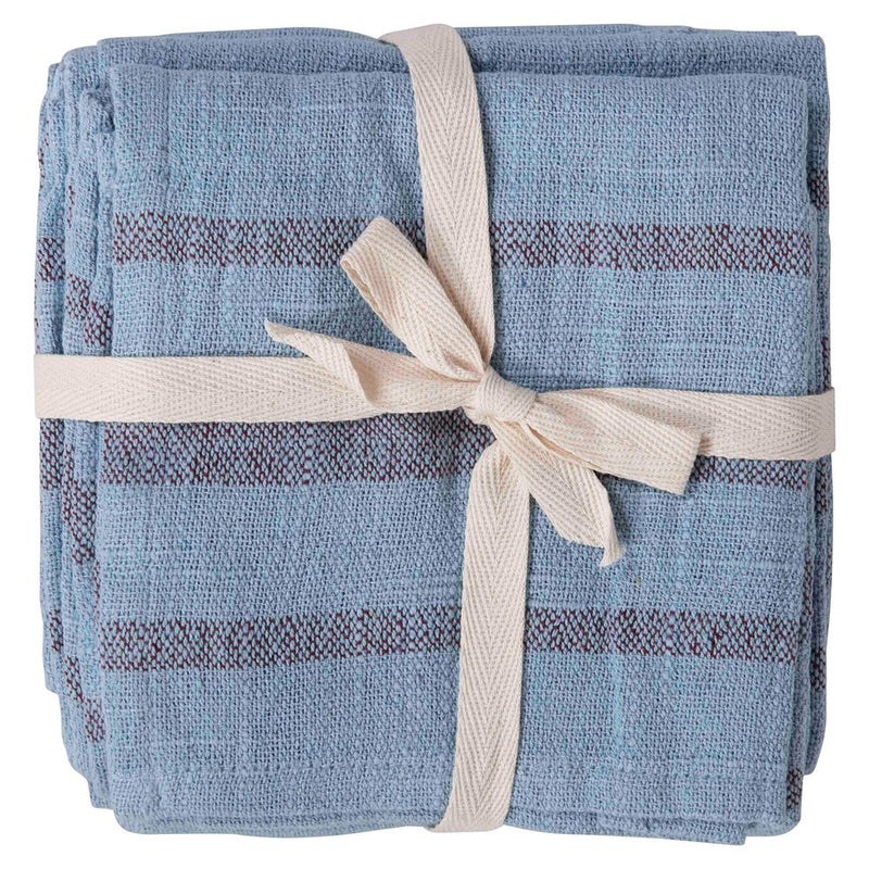 Overdyed Cotton Napkin Set - Blue