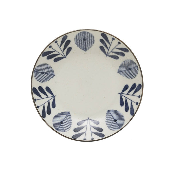Medium Porcelain Bowl - Blue & White Flower Pattern