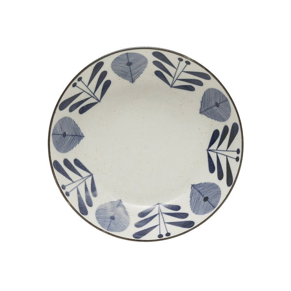 Large Porcelain Bowl - Blue & White Flower Pattern