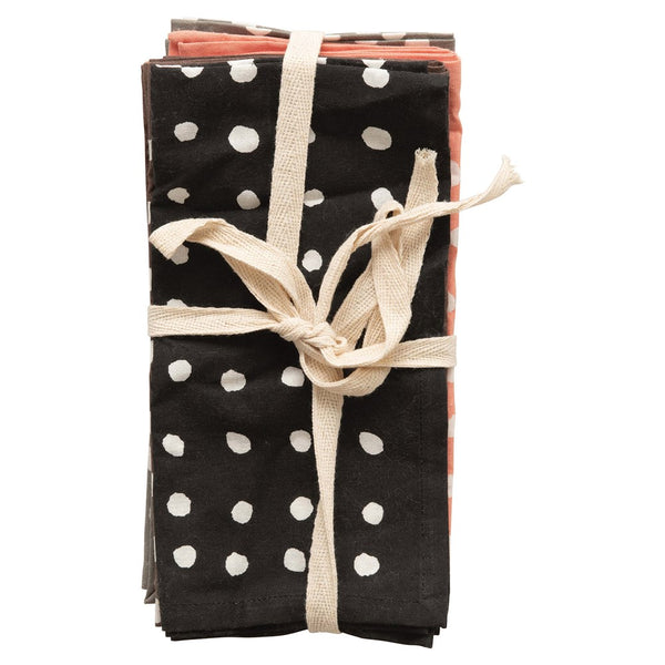 Cotton Polka Dot Napkin Set