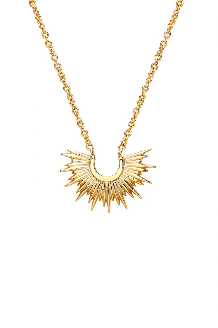 Half Sunburst Necklace