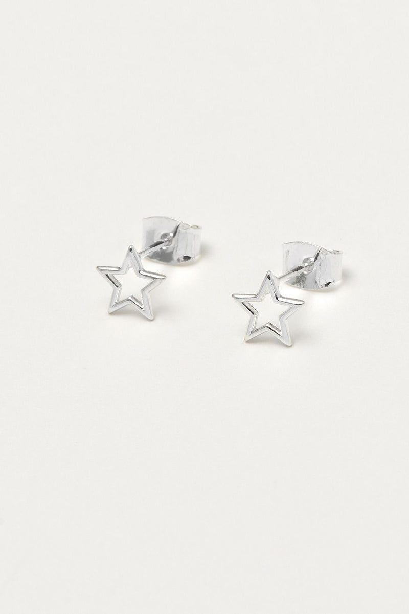 Open Star Stud Earrings