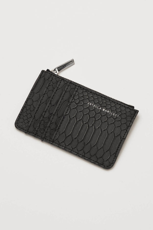 Card Purse - Black Snake Effect