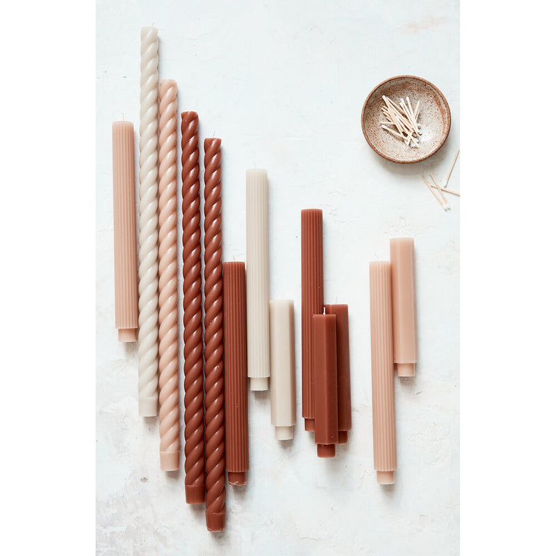 "Boxed Tapers - 10"" Clay"