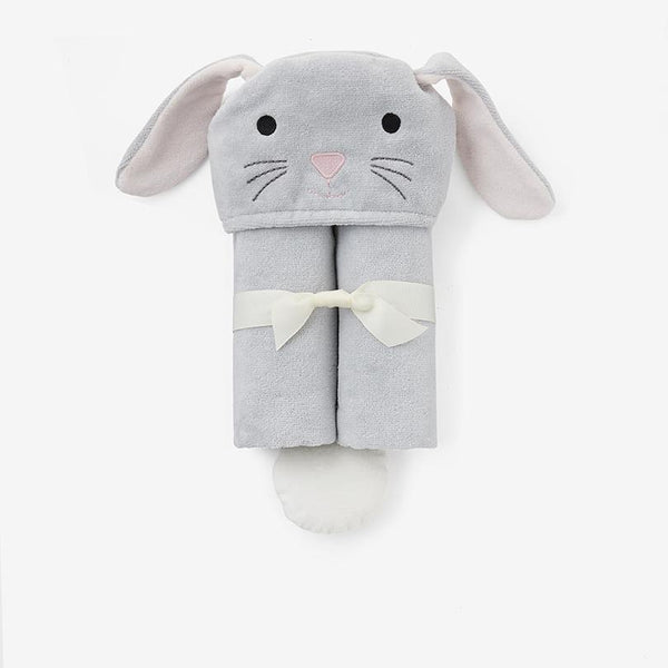 Baby Bath Wrap - Gray Bunny
