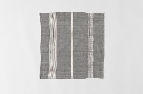 Aidan Cotton Napkin - Gray & Natural