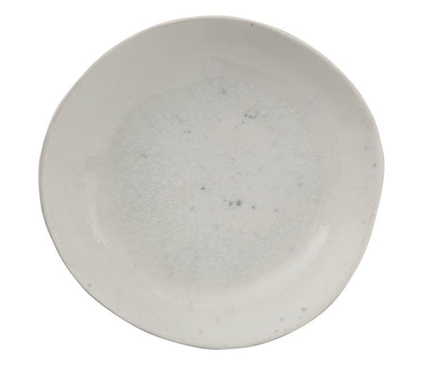 White Ceramic Bowl with Reactive Glaze Finish