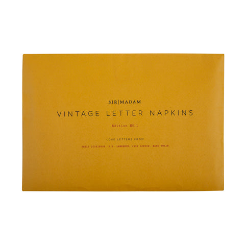 Love Letter Napkins - Emily Dickinson, D.H. Lawrence, Jack London & Mark Twain
