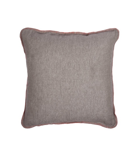 Brushed Cotton Cushion Cover - Red Whip Stitch