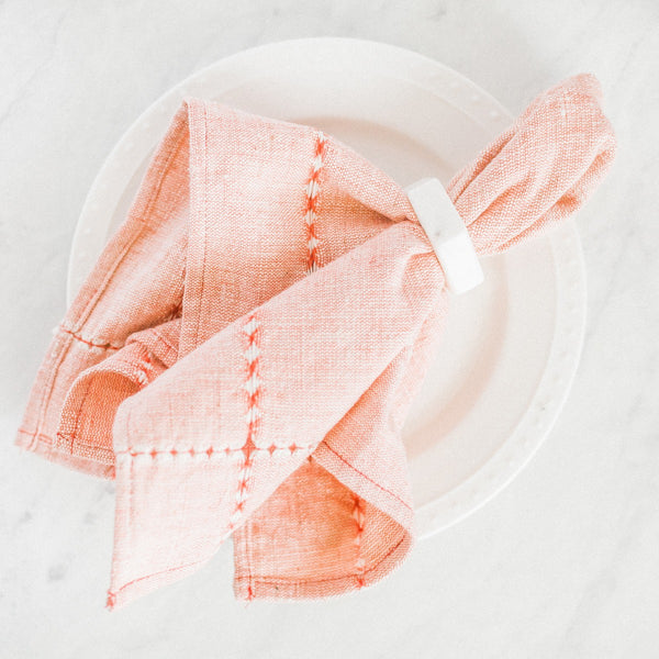 Pulled Cotton Napkin - Red