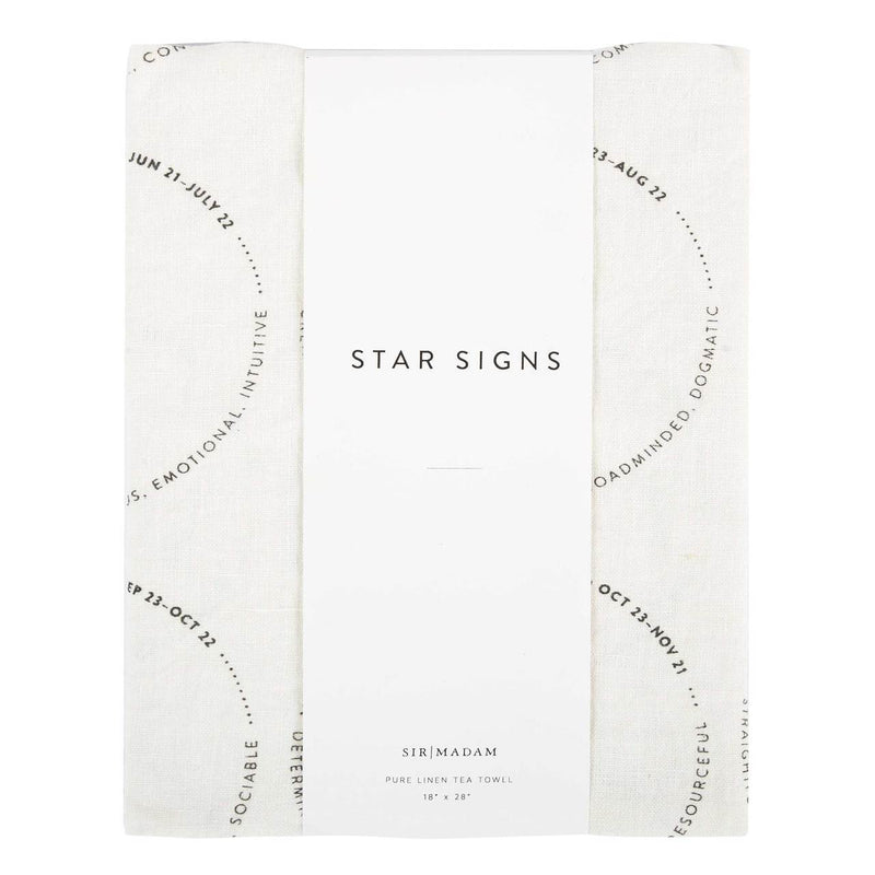 Astrology Linen Tea Towel