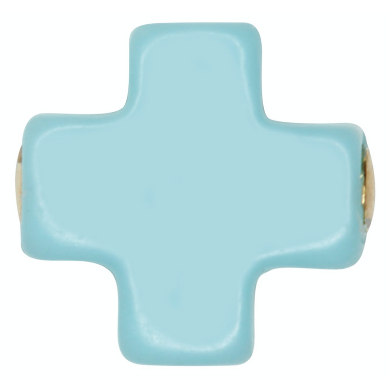 Swiss Style Cross Necklace - Turquoise