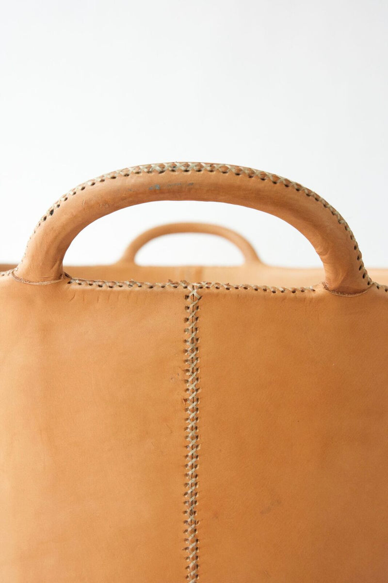 Large Leather Bucket - Natural Color