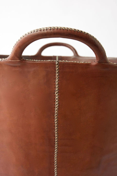 BLACKBARN - Large Leather Bucket - Brown Color