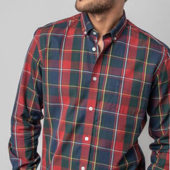 Checked Shirt: Red/Blue