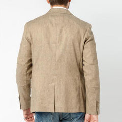 Sutton Cotton & Linen Jacket: Camel