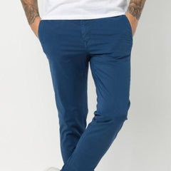 Stretch Cotton Chino Design 702: Indigo