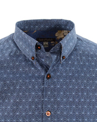 Tim Star Geo Shirt S/S: Indigo